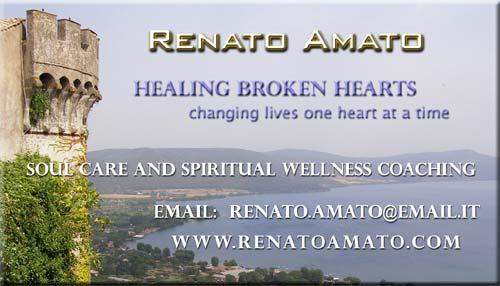front of Renato Amato business card